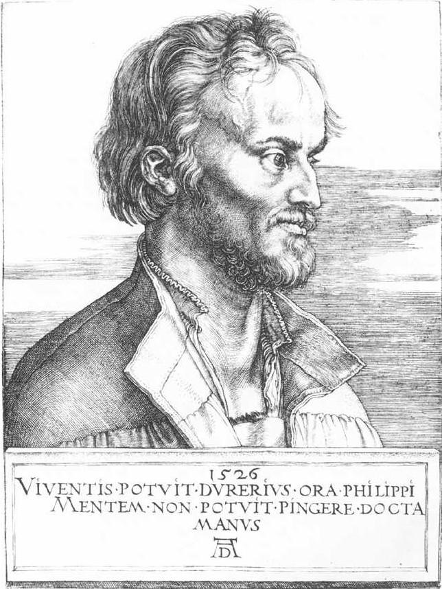 Albrecht Dürer: Portrait von Philipp Melanchthon, 1526