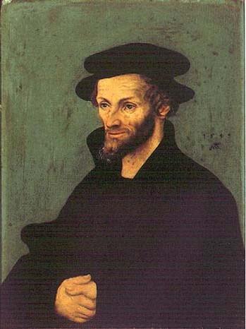 Lukas Cranach der Ältere; Portrait, 1543, in der Galleria degli Uffizi in Florenz
