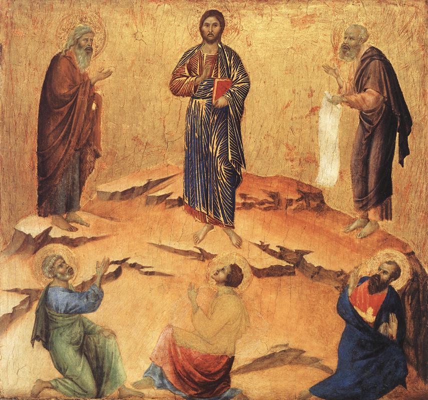 Duccio di buoninsegna: verklärung jesu , 1308 - 11, national gallery