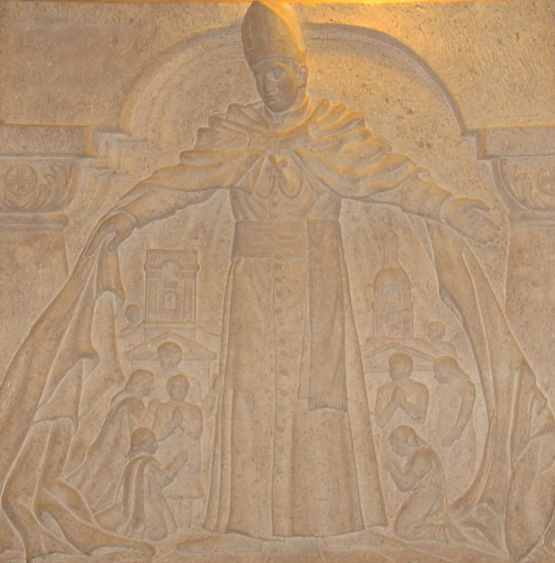 Relieff i det ungarske kapellet i Peterskirken i Roma © Joachim Schäfer – Ökumenisches Heiligenlexikon